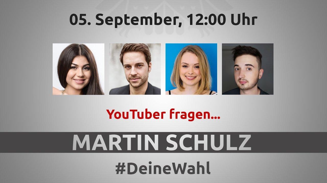 #DeineWahl - YouTuber fragen Martin Schulz am 05. September