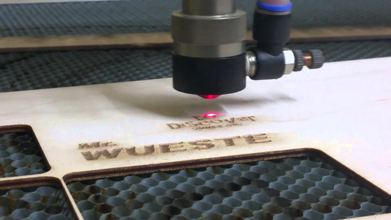 Laser cut name tags - YouTube