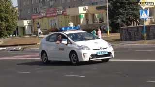 Колонна автомашин День независимости Украины Южноукраинск 24 августа 2014