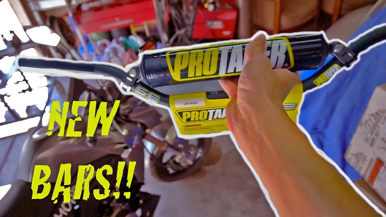 KAWASAKI Z125 MODS | Pro Taper Handlebars Install | Grom by Trevor Pritchett