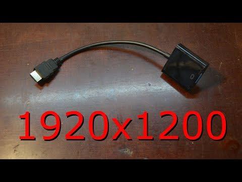 Dexp HDMI To VGA на разрешении 1920x1200