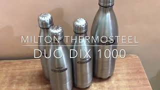 Milton THERMOSTEEL DUO DLX 1000 water bottle review and unboxing