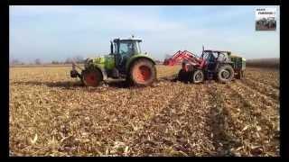 Wpadki Rolnicze 2014 :) Traktory W błocie. Piękny ryk śilnika. Deutz-Fahr, Claas,Ursus, New Holland.
