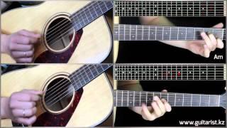 Justin Timberlake - What goes around guitar lesson (Уроки игры на гитаре Guitarist.kz)