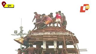 Puri Rath Yatra-Chariot Construction At Its Last Legs