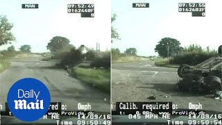 Dash cam footage shows a car flipping over after reckless driving - Daily Mail