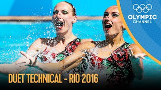 Artistic Swimming Duet Technical | Rio 2016 Replays