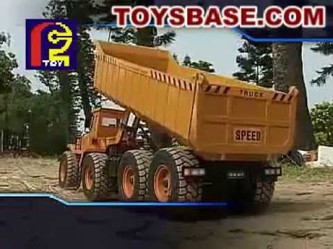 1/10th scale Six-way RC Dump Truck with transmitter