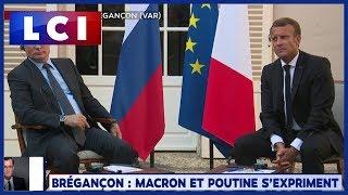 Poutine évoque les blessés des Gilets jaunes devant Macron