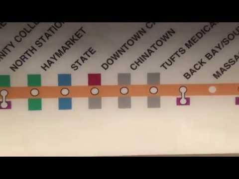 MBTA: Orange Line from Oak Grove to Forest Hills 2016