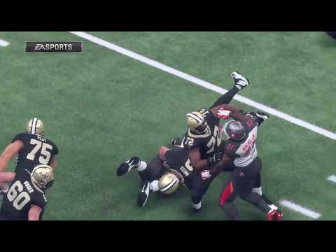 Madden 18 - Tampa Bay Buccaneers  vs  New Orleans Saints  - Full Game Simulation Nation
