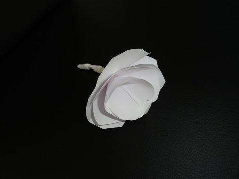 Blumen Aus Papier Selber Machen - Rosen Basteln / DIY Deko Bastelanleitung - Tischdeko - Origami