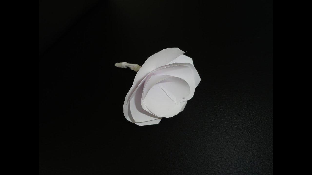 blumen aus papier selber machen rosen basteln diy deko bastelanleitung tischdeko origami. Black Bedroom Furniture Sets. Home Design Ideas