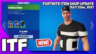 Fortnite Item Shop *NEW* FERRARI BUNDLE! [July 22nd, 2021] (Fortnite Battle Royale)