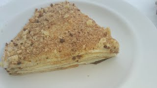 Торт Наполеон без муки, без сахара, без глютена