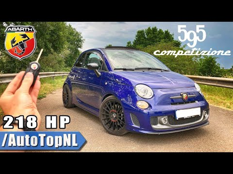 Abarth 595 Competizione TUNED Elmerhaus REVIEW POV Test Drive by AutoTopNL