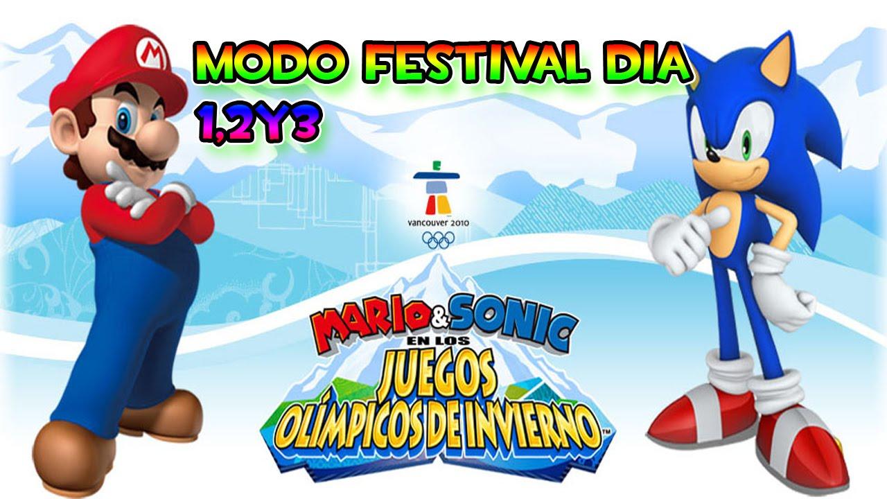 Mario Y Sonic En Los Juegos Olimpicos De Invierno 2010 1 Modo