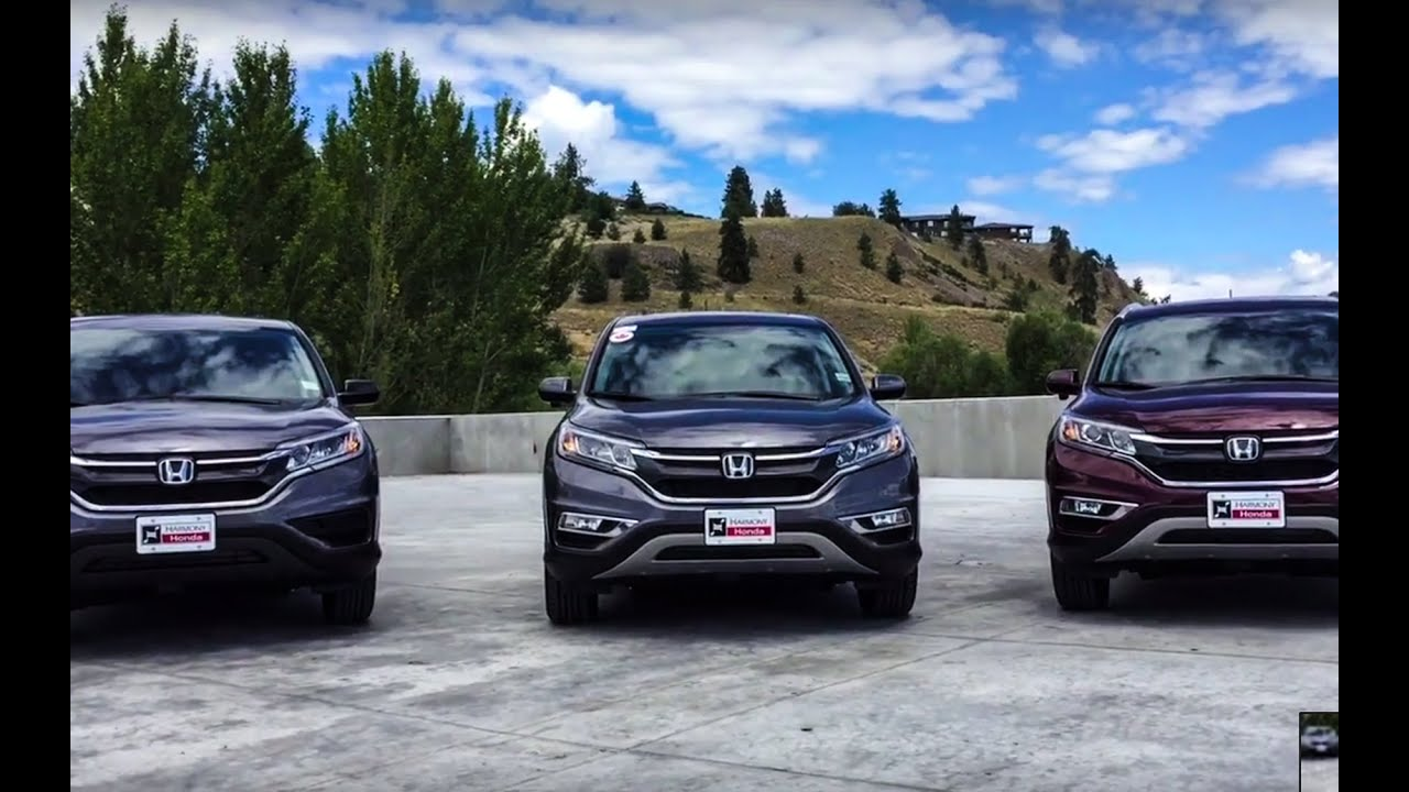 NEW 2016 Honda CRV LX vs EXL comparison  Harmony Honda