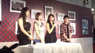 参加メンバー:近藤さや香、芹那、 チェン・チュー 2012年2月18日 2回目...