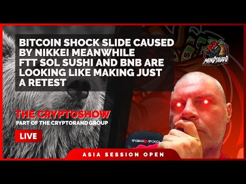 BITCOIN SHOCK SLIDE CAUSED BY NIKKEI DROP