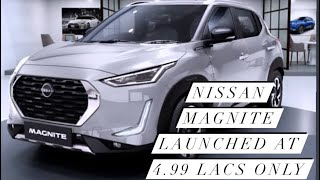 Nissan Magnite Launched at 4.99 Lacs