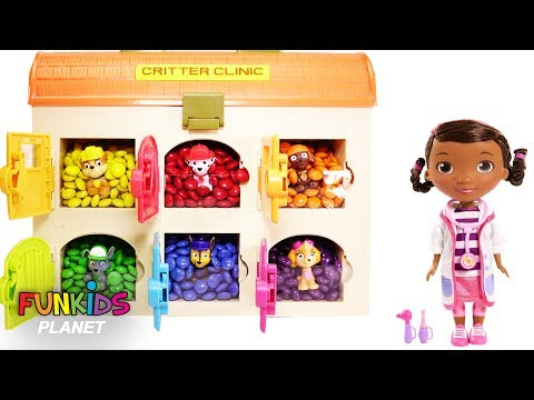 Thumbnail: Learning Colors Videos for Kids: Paw Patrol Pups are in M&M Surprise Hospital with Doc McStuffins