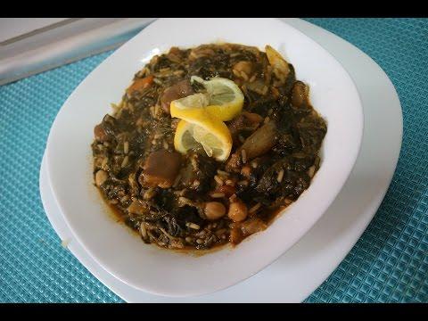 cuisine-algérienne:-ratatouille-d'épinards-طاجين-السلق---matbakh-kamar