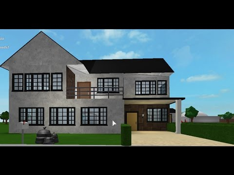Bloxburg Speedbuild 2 Story Small House Part 1 Youtube