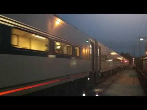 Amtrak Perre Marquette arriving in Bangor Michigan