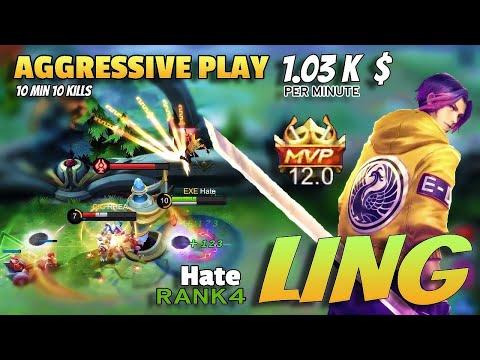 Ling Is Broken | Fast Farm | Mobile Legends- Top Global | Skin Giveaway In Description 👇