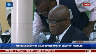 Announcement Of Osun Governorship Election Results Pt.1