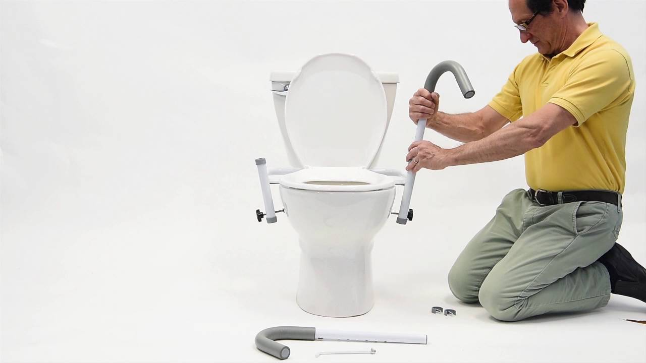 Ultimate Toilet Safety Frame - YouTube