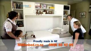 Hiddenbed New Zealand | Fold Away Wall Kids Study Desk Beds In One
