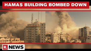 Israel Forces Bomb Down Hamas Building In Gaza In Anti-Terror OPs