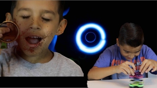 FIDGET SPINNER CHALLENGES AND GAMES! Multiple uses for a Fidget Spinner!