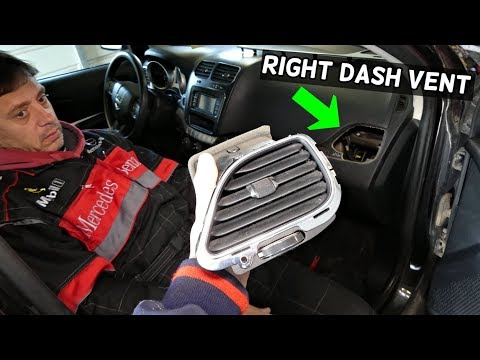 DODGE JOURNEY RIGHT PASSENGER SIDE VENT REMOVAL REPLACEMENT