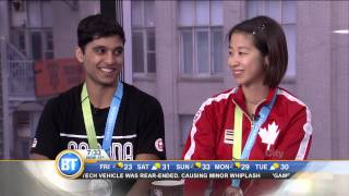 Badminton athletes Andrew DeSouza and Phyllis Chan on Pan Am Games win