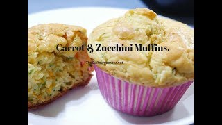 Carrot and Zucchini Muffins ( Vegetable Muffins)