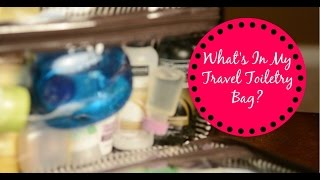 What's in my travel toiletry bag? Thumbnail