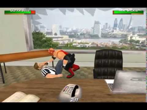 Wrestling Revolution 3D: Thrown Through Office Window
