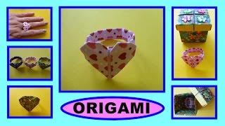 DIY Origami Herz - Ring, Geschenk zum Valentinstag, Heart, Gift Ideas for Valentine's day