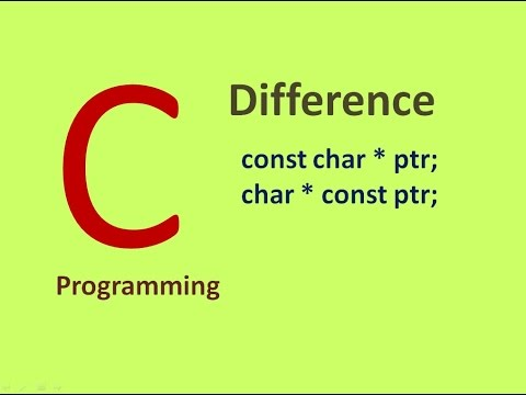 What is difference between const char * and char *  const in C