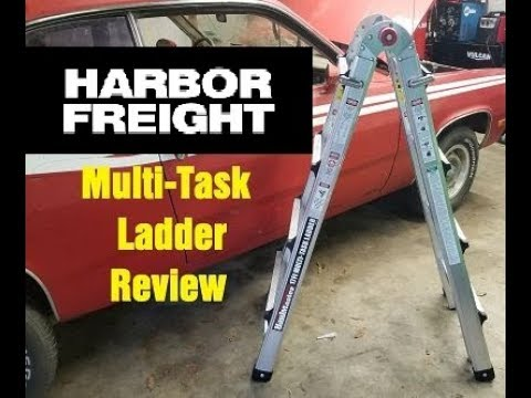 Review On Harbor Freight S Multi Task Ladder Youtube
