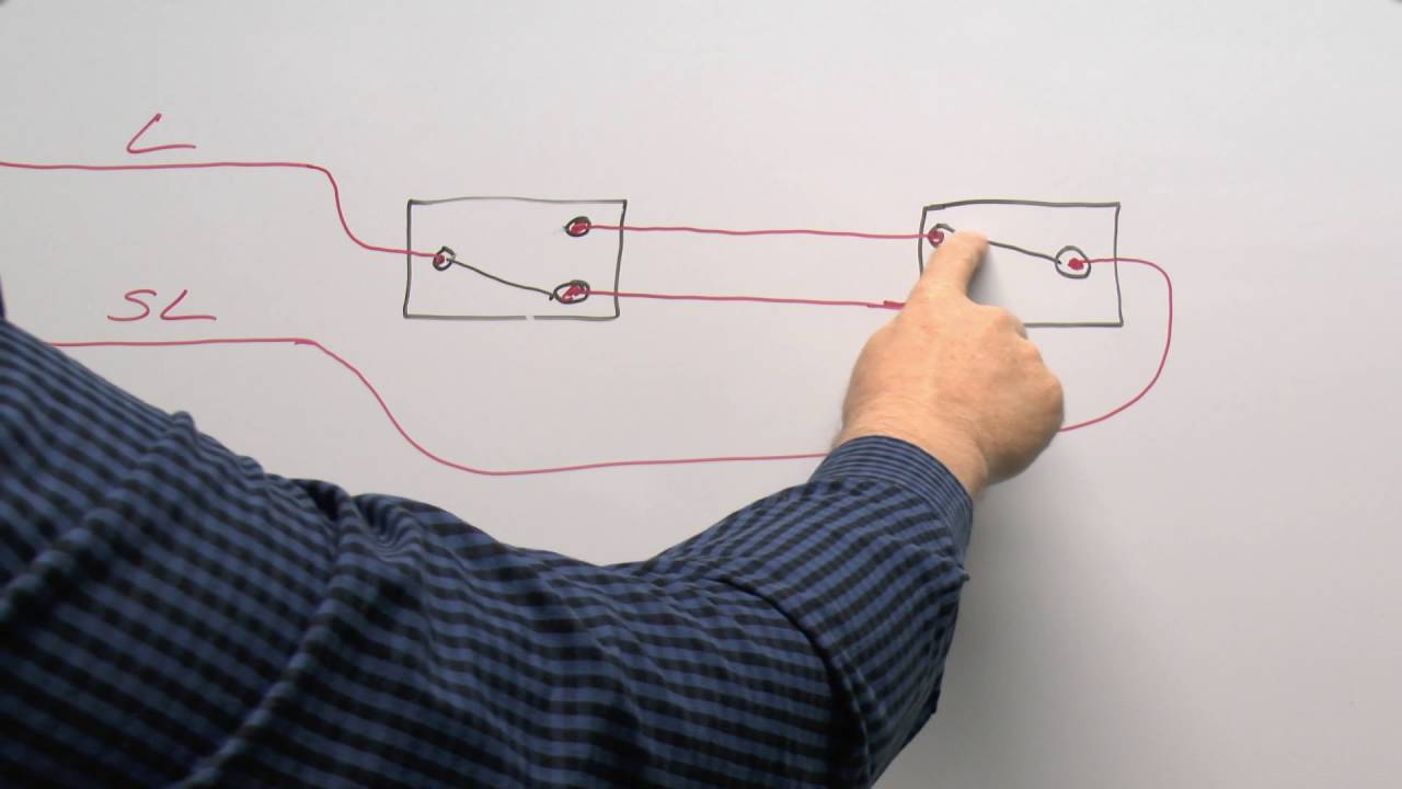 Lighting Circuits Part 2 Wiring Multiple Switches Way And Switch Diagram Further 3 On 6 Pole Intermediates Youtube