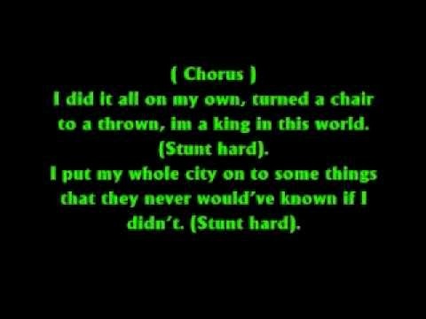 Drake , Kid-Kid  Lil Wayne - Stunt Hard (W/ Lyrics)