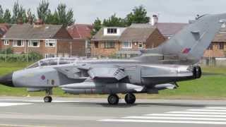 close up shots and tornado jet take off at warton bae july 03 2013