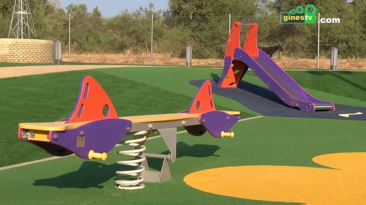 """Gines estrena un nuevo parque, que lleva el nombre de """"Manolo Pérez Fernández"""""""