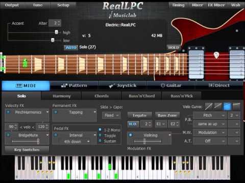 MusicLab RealLPC Demonstration Track - Keyboard Improv