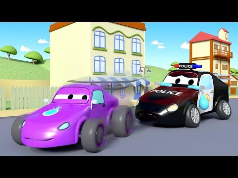 Amber la Ambulancia - Mat el Carro Policia tiene una Muy Mala Tos! - Dibujos Animados Educativos