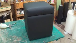 DIY - HOW TO UPHOLSTER A STORAGE OTTOMAN - ALO Upholstery